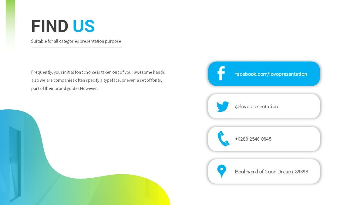 Lovo - Minimal Gradient Powerpoint Template, Slide 30, 06420, Business Models — PoweredTemplate.com