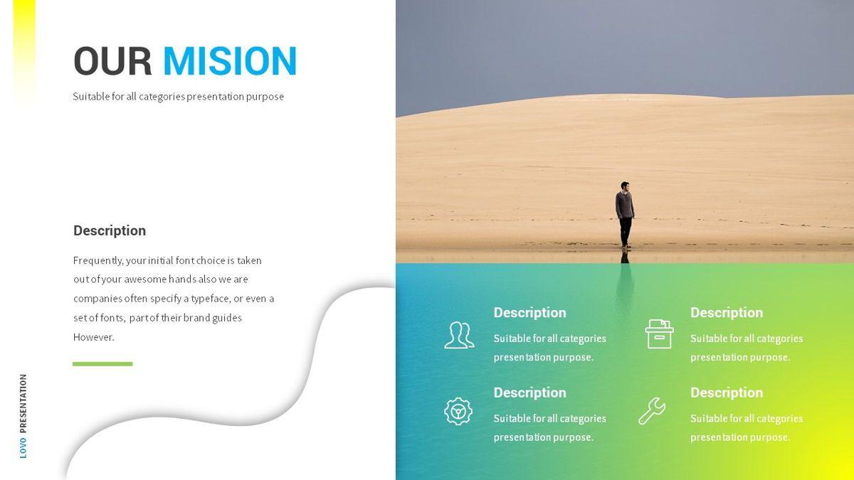 Lovo - Minimal Gradient Powerpoint Template, Slide 8, 06420, Business Models — PoweredTemplate.com