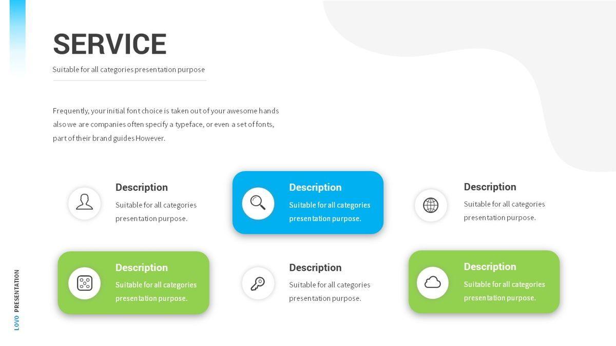 Lovo - Minimal Gradient Powerpoint Template, Slide 9, 06420, Business Models — PoweredTemplate.com