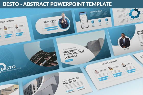 Business Models: Besto - Abstract Powerpoint Template #06421
