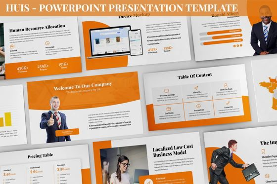 Business Models: Huis - Powerpoint Presentation Template #06422