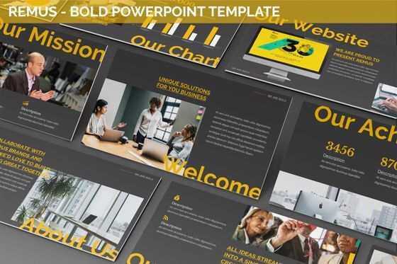 Business Models: Remus - Bold Powerpoint Template #06423