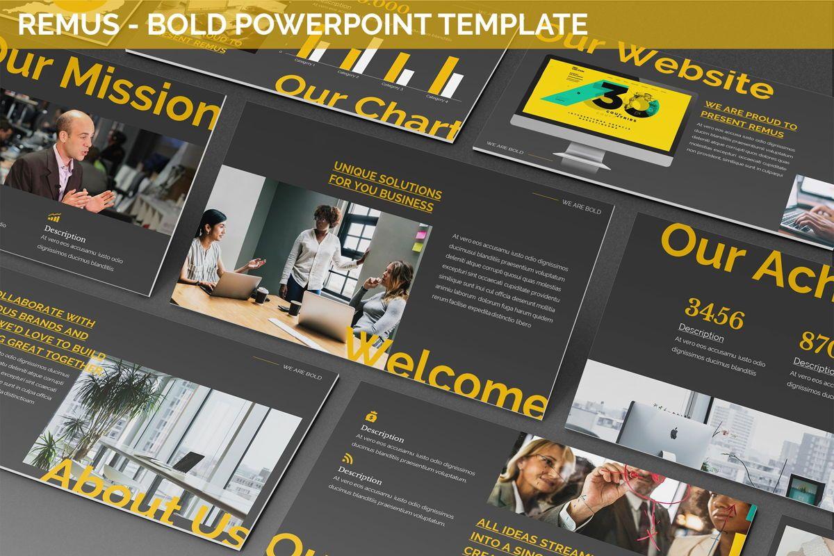 Remus - Bold Powerpoint Template, 06423, Business Models — PoweredTemplate.com