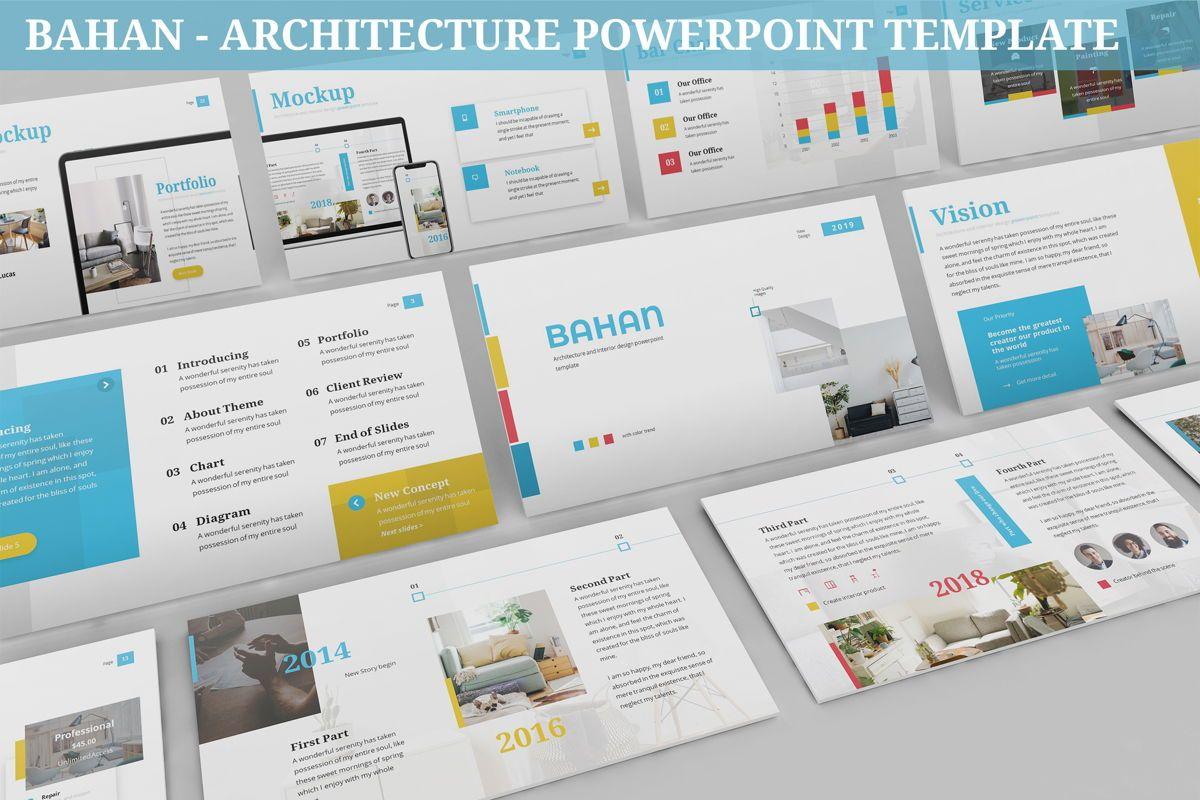 Bahan - Architecture Powerpoint Template, 06424, Data Driven Diagrams and Charts — PoweredTemplate.com