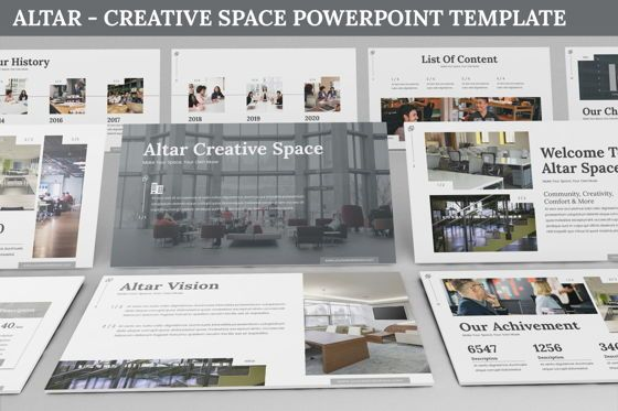 Business Models: Altar - Creative Space Powerpoint Template #06425