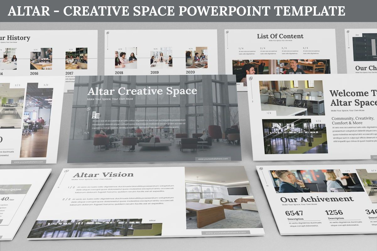 Altar - Creative Space Powerpoint Template, 06425, Business Models — PoweredTemplate.com
