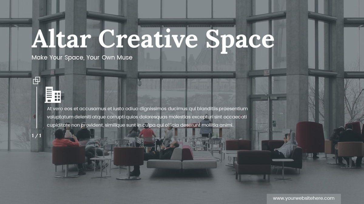 Altar - Creative Space Powerpoint Template, Slide 2, 06425, Business Models — PoweredTemplate.com