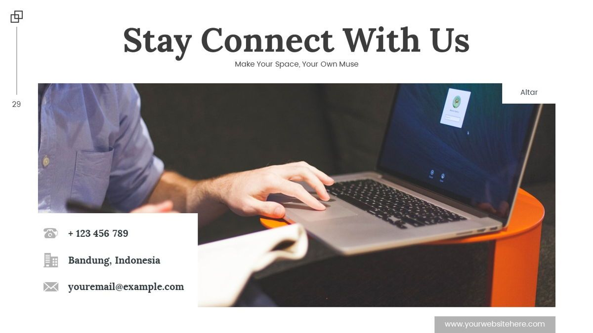 Altar - Creative Space Powerpoint Template, Slide 30, 06425, Business Models — PoweredTemplate.com