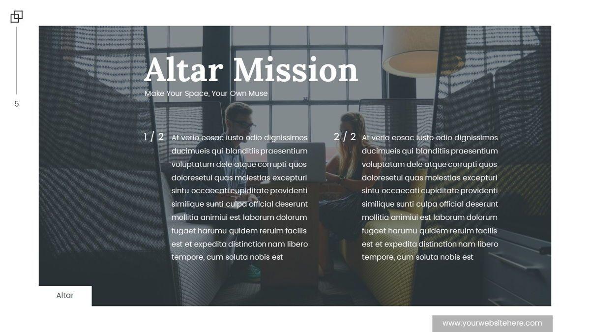 Altar - Creative Space Powerpoint Template, Slide 6, 06425, Business Models — PoweredTemplate.com
