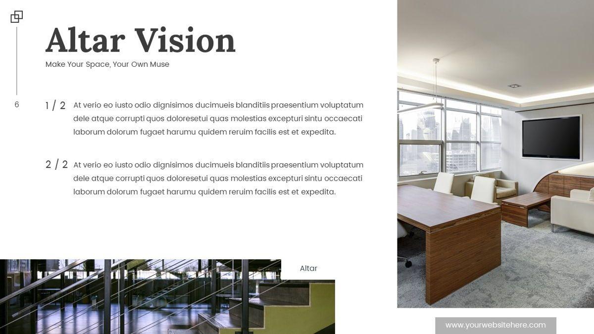 Altar - Creative Space Powerpoint Template, Slide 7, 06425, Business Models — PoweredTemplate.com