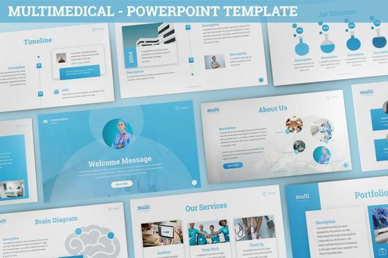 Data Driven Diagrams and Charts: MultiMedical - Powerpoint Presentation Template #06426