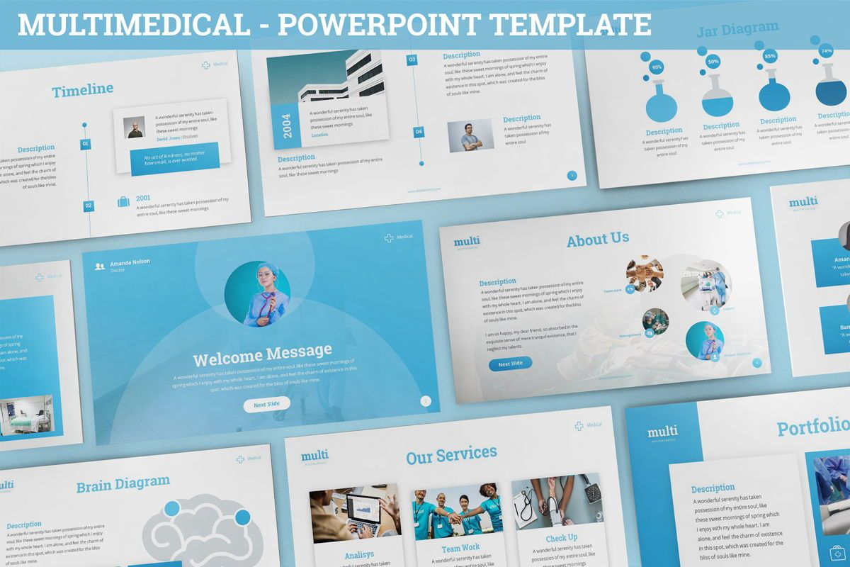 MultiMedical - Powerpoint Presentation Template, 06426, Data Driven Diagrams and Charts — PoweredTemplate.com