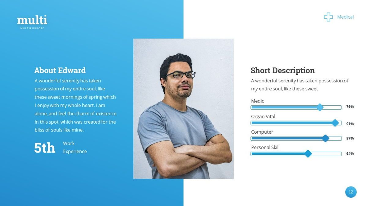 MultiMedical - Powerpoint Presentation Template, Slide 13, 06426, Data Driven Diagrams and Charts — PoweredTemplate.com