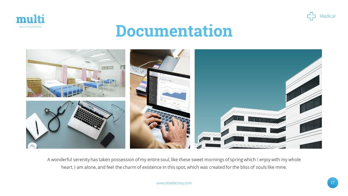 MultiMedical - Powerpoint Presentation Template, Slide 18, 06426, Data Driven Diagrams and Charts — PoweredTemplate.com