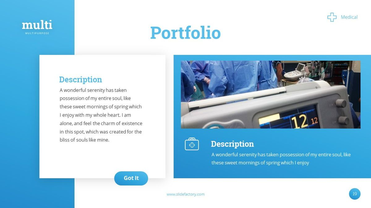 MultiMedical - Powerpoint Presentation Template, Slide 20, 06426, Data Driven Diagrams and Charts — PoweredTemplate.com