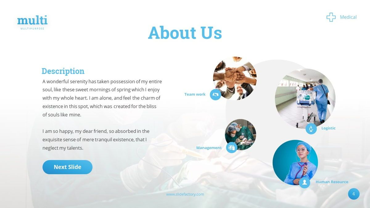 MultiMedical - Powerpoint Presentation Template, Slide 5, 06426, Data Driven Diagrams and Charts — PoweredTemplate.com