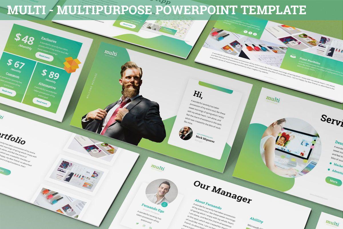 Multi - Multipurpose Powerpoint Template, 06427, Business Models — PoweredTemplate.com