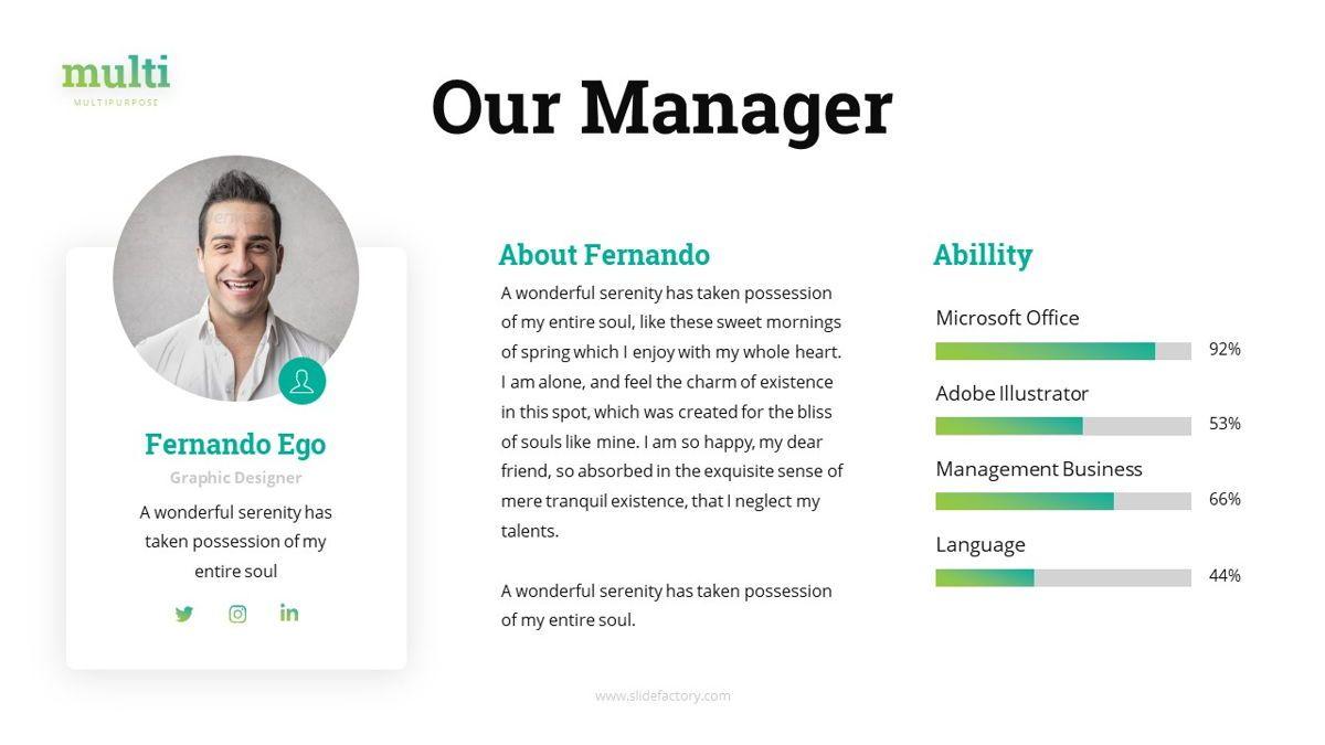 Multi - Multipurpose Powerpoint Template, Slide 13, 06427, Business Models — PoweredTemplate.com