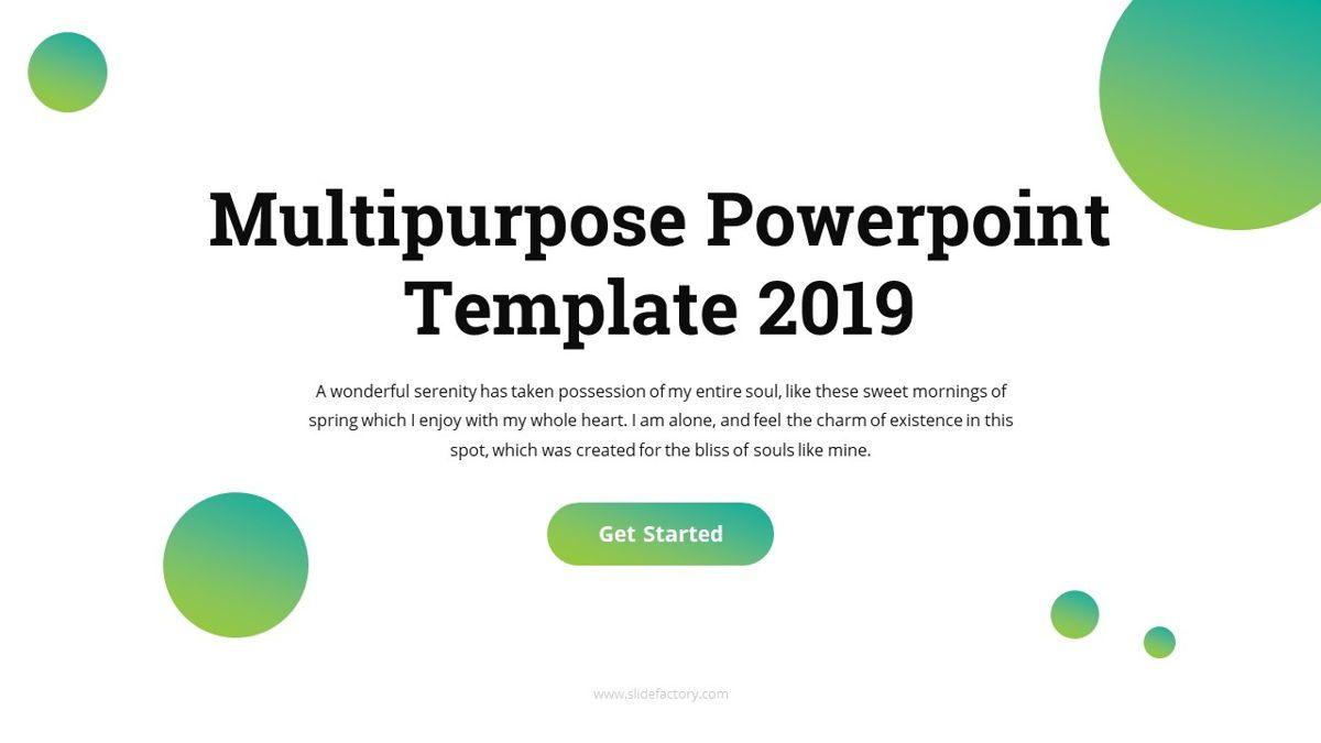 Multi - Multipurpose Powerpoint Template, Slide 3, 06427, Business Models — PoweredTemplate.com
