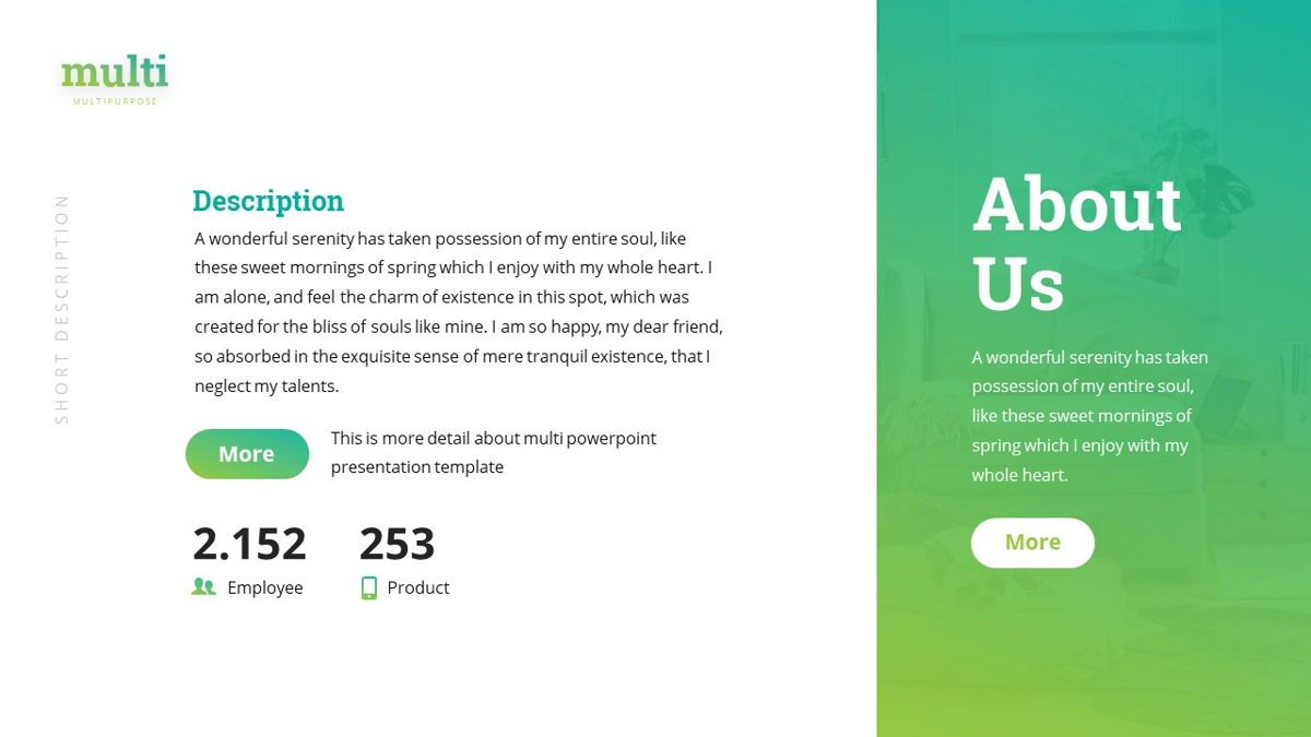 Multi - Multipurpose Powerpoint Template, Slide 5, 06427, Business Models — PoweredTemplate.com