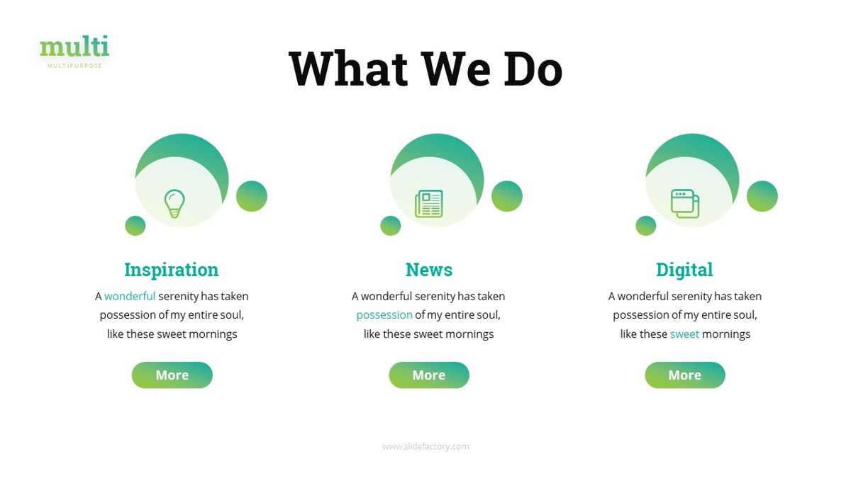 Multi - Multipurpose Powerpoint Template, Slide 7, 06427, Business Models — PoweredTemplate.com