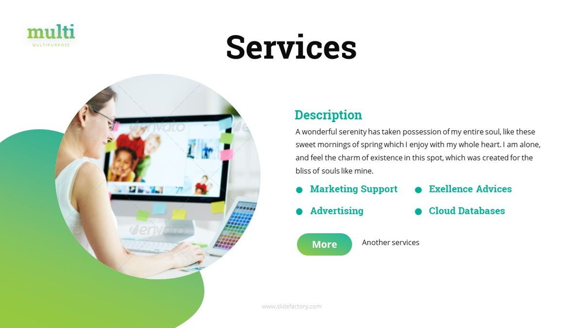 Multi - Multipurpose Powerpoint Template, Slide 8, 06427, Business Models — PoweredTemplate.com