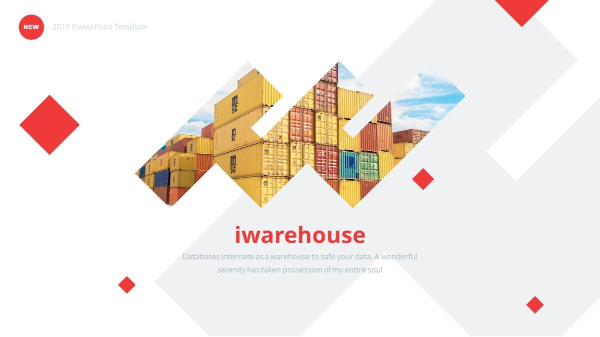 iWarehouse - Logistics Powerpoint Template, Slide 2, 06428, Data Driven Diagrams and Charts — PoweredTemplate.com