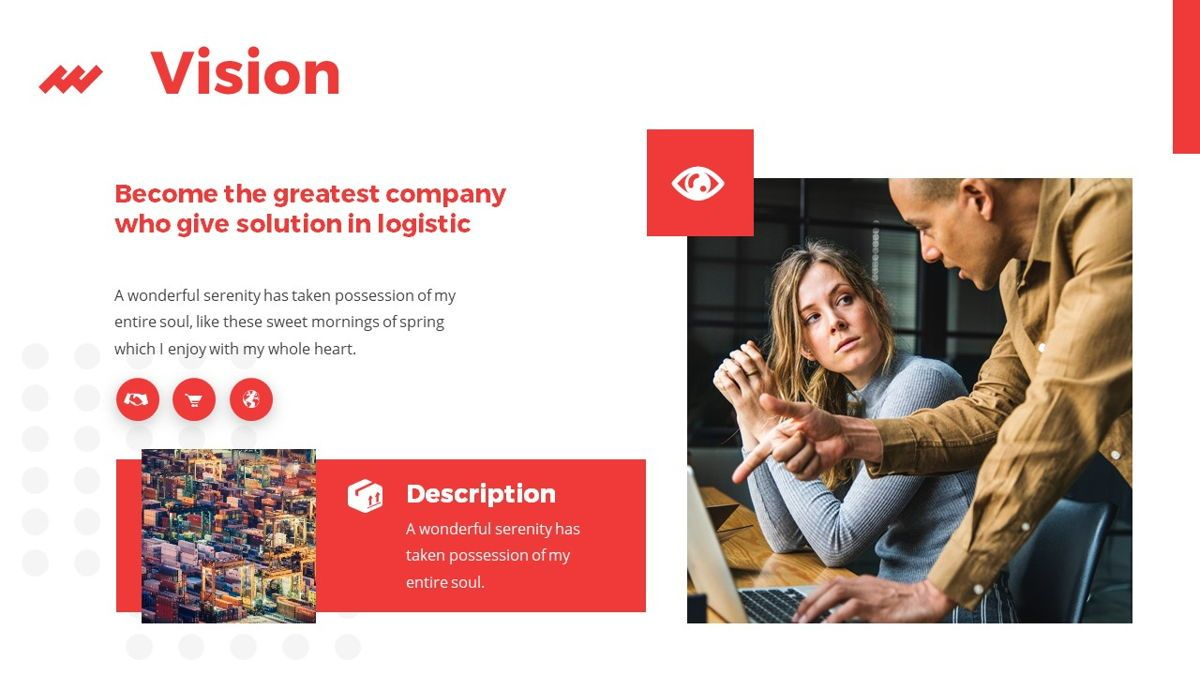 iWarehouse - Logistics Powerpoint Template, Slide 6, 06428, Data Driven Diagrams and Charts — PoweredTemplate.com