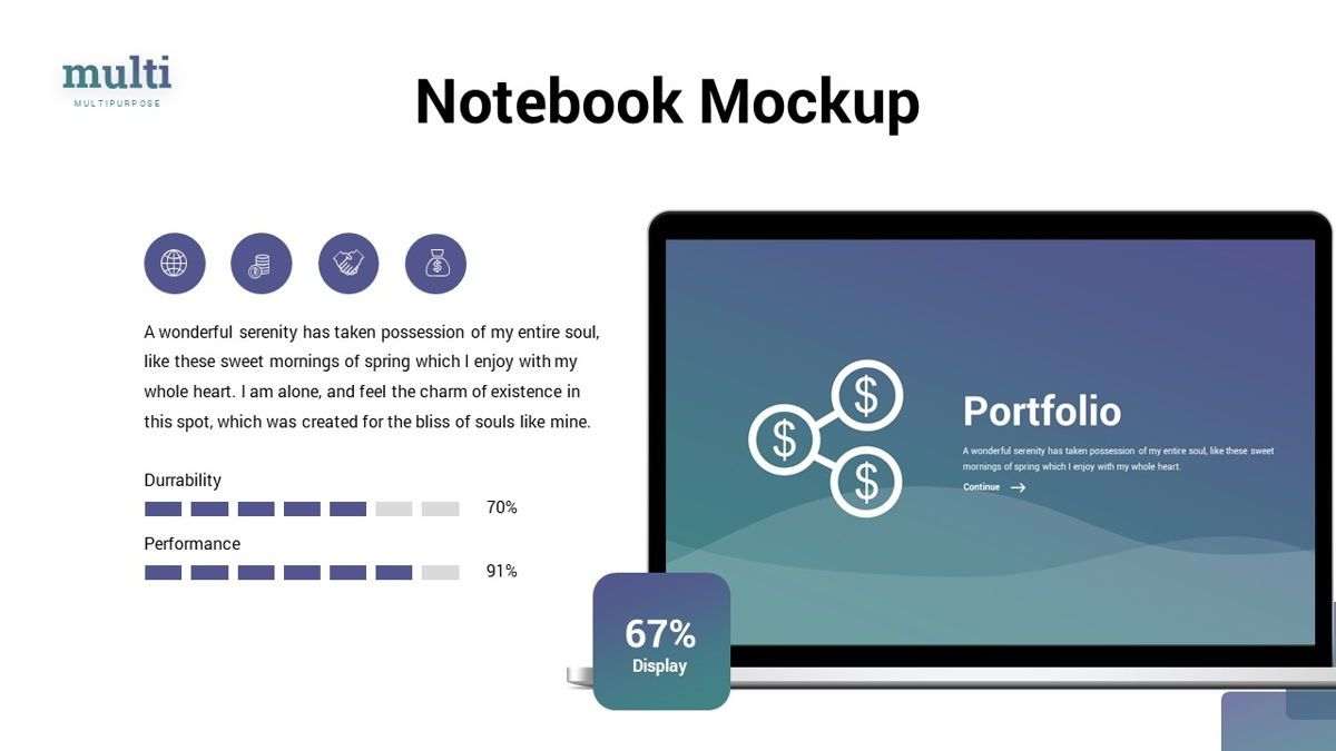 MultiFinance - Financial Powerpoint Template, Slide 21, 06429, Data Driven Diagrams and Charts — PoweredTemplate.com