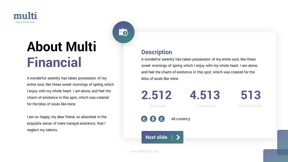 MultiFinance - Financial Powerpoint Template, Slide 6, 06429, Data Driven Diagrams and Charts — PoweredTemplate.com