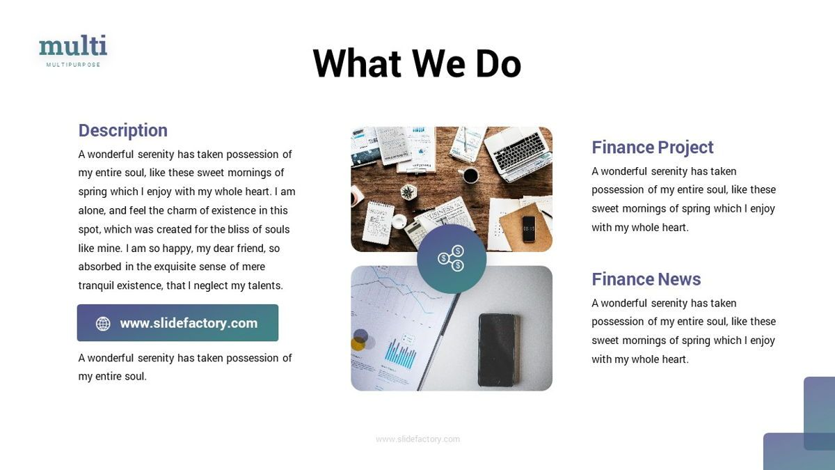 MultiFinance - Financial Powerpoint Template, Slide 8, 06429, Data Driven Diagrams and Charts — PoweredTemplate.com