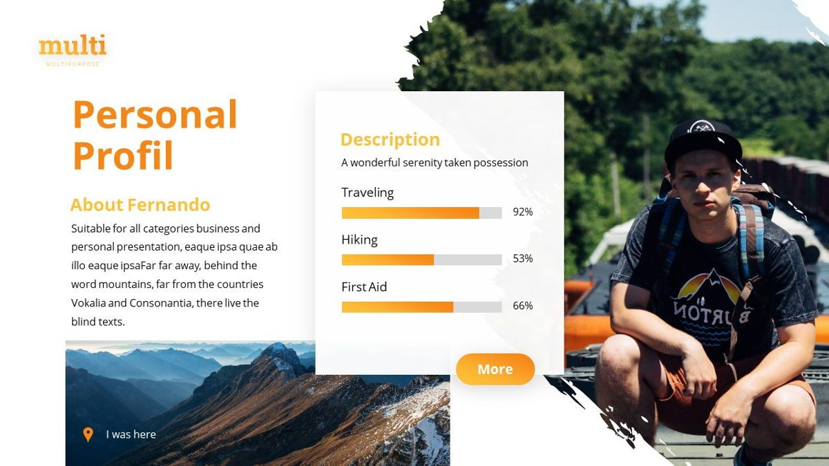 MultiAdventure - Powerpoint Template, Slide 13, 06430, Data Driven Diagrams and Charts — PoweredTemplate.com
