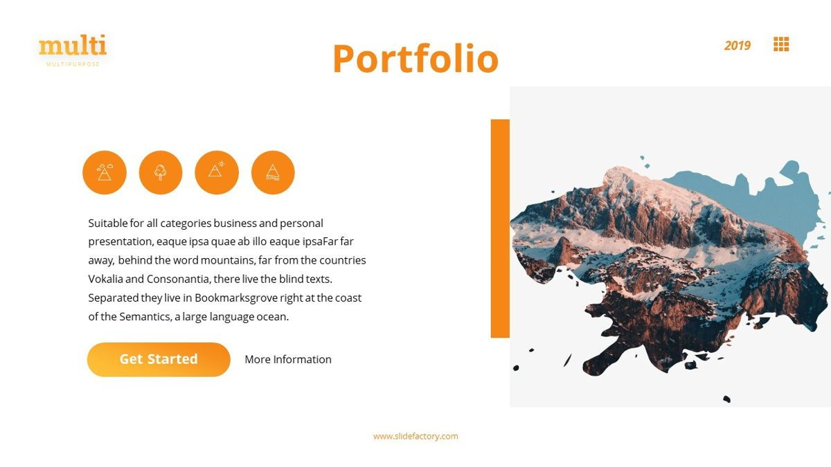 MultiAdventure - Powerpoint Template, Slide 15, 06430, Data Driven Diagrams and Charts — PoweredTemplate.com