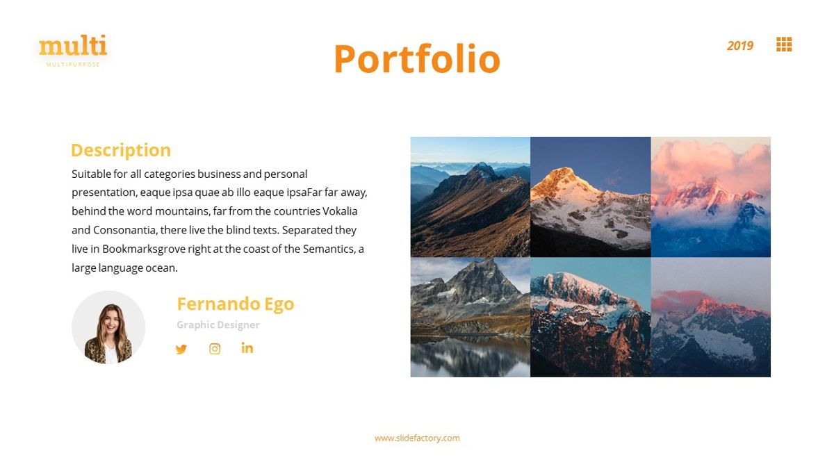 MultiAdventure - Powerpoint Template, Slide 17, 06430, Data Driven Diagrams and Charts — PoweredTemplate.com