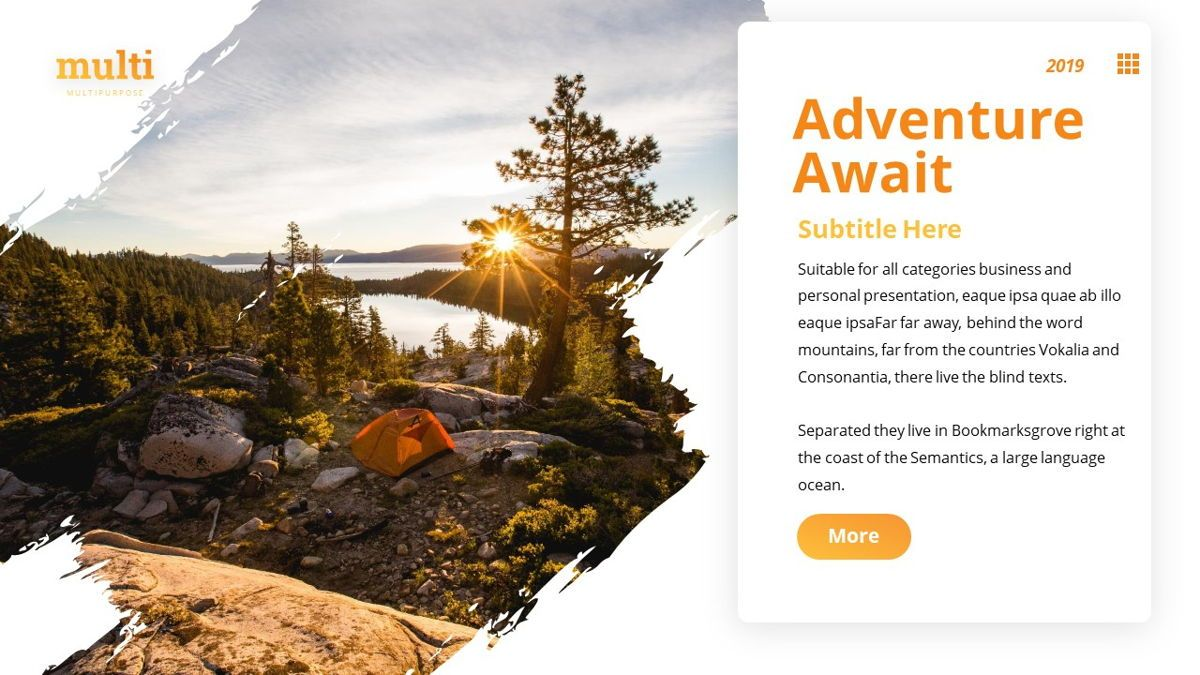MultiAdventure - Powerpoint Template, Slide 7, 06430, Data Driven Diagrams and Charts — PoweredTemplate.com