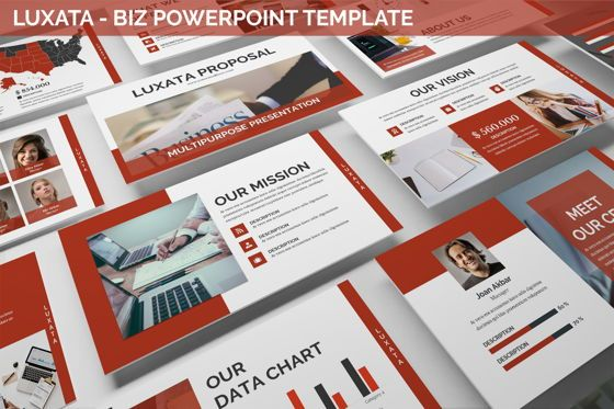 Business Models: Luxata - Biz Powerpoint Presentation Template #06432