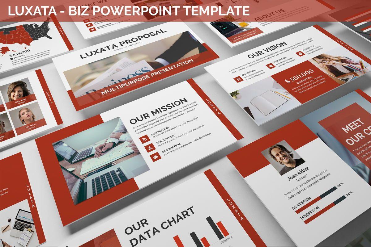 Luxata - Biz Powerpoint Presentation Template, 06432, Business Models — PoweredTemplate.com
