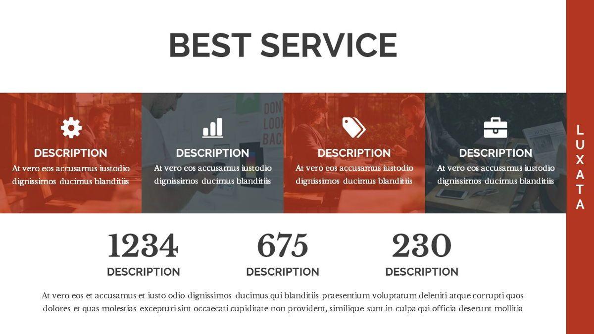 Luxata - Biz Powerpoint Presentation Template, Slide 13, 06432, Business Models — PoweredTemplate.com