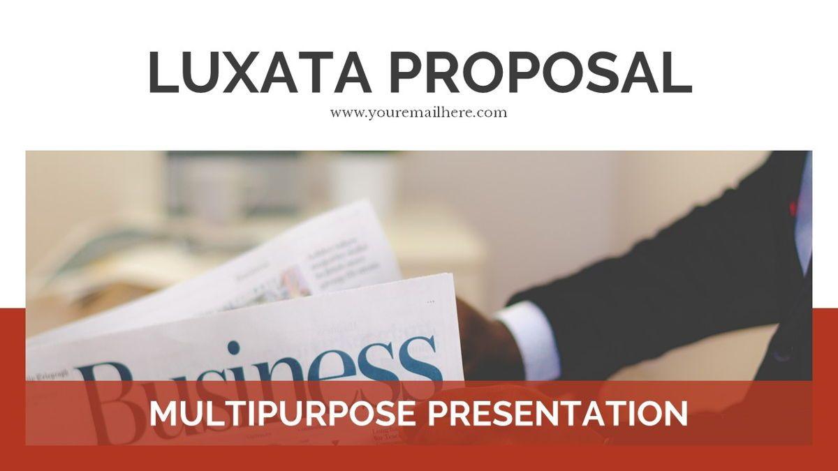 Luxata - Biz Powerpoint Presentation Template, Slide 2, 06432, Business Models — PoweredTemplate.com