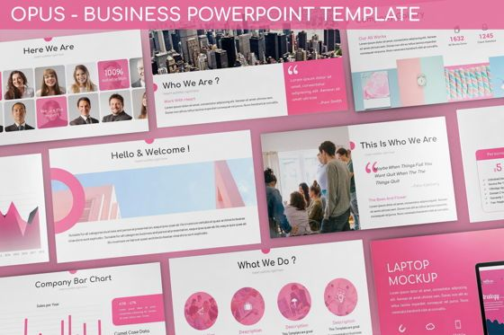 Business Models: Opus - Business Powerpoint Template #06434