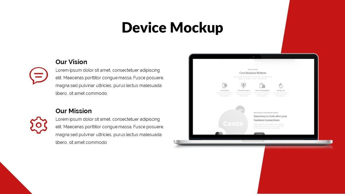 Redbiz - Biz Powerpoint Presentation Template, Slide 22, 06435, Data Driven Diagrams and Charts — PoweredTemplate.com