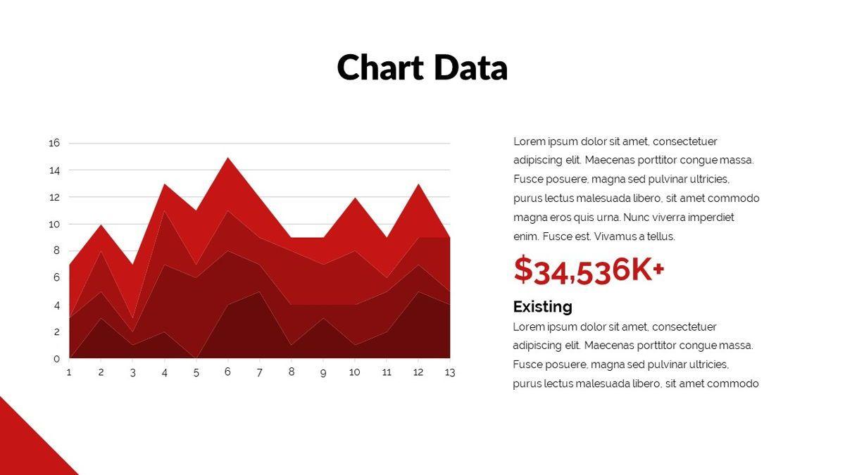 Redbiz - Biz Powerpoint Presentation Template, Slide 28, 06435, Data Driven Diagrams and Charts — PoweredTemplate.com
