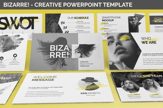Business Models: Bizarre - Creative Powerpoint Template #06437
