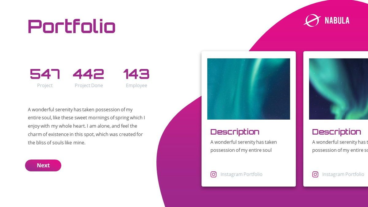 Nabula - Scientific Powerpoint Template, Slide 16, 06438, Data Driven Diagrams and Charts — PoweredTemplate.com