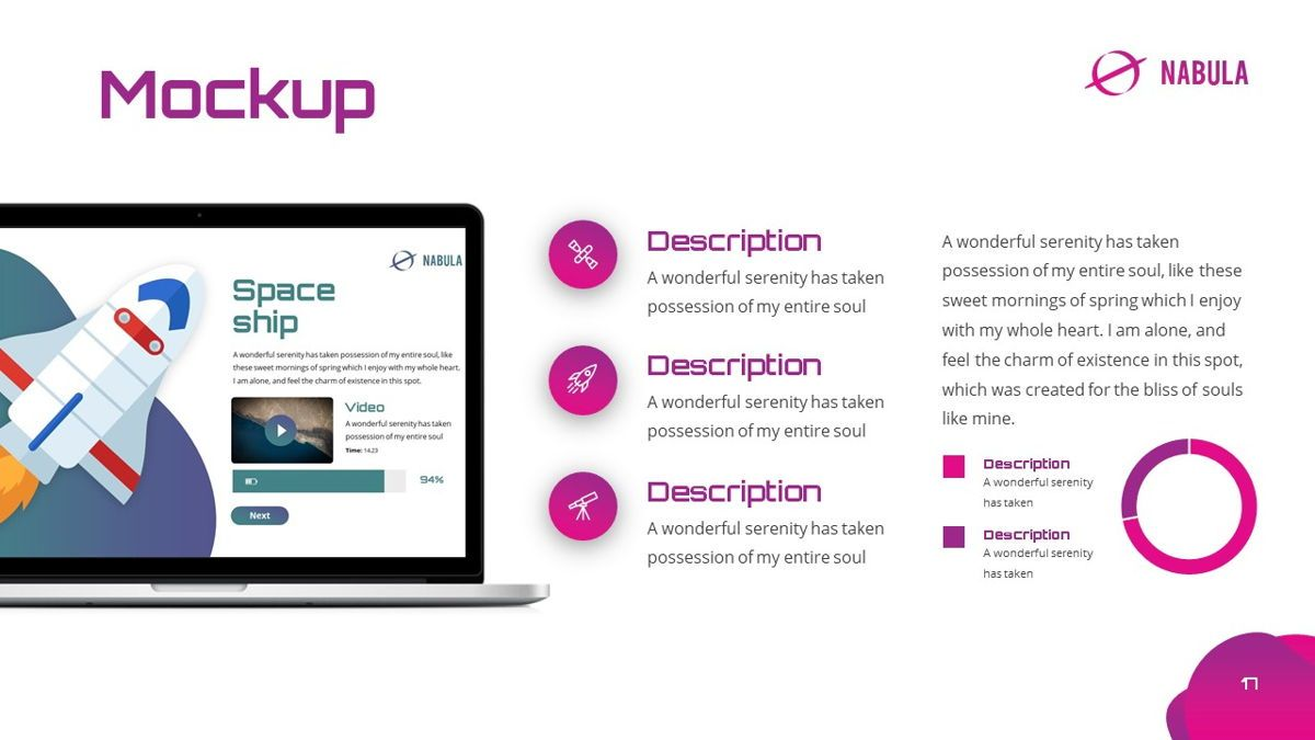 Nabula - Scientific Powerpoint Template, Slide 18, 06438, Data Driven Diagrams and Charts — PoweredTemplate.com