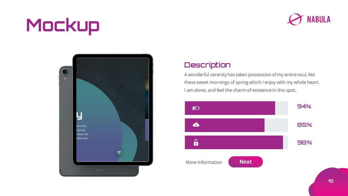 Nabula - Scientific Powerpoint Template, Slide 20, 06438, Data Driven Diagrams and Charts — PoweredTemplate.com