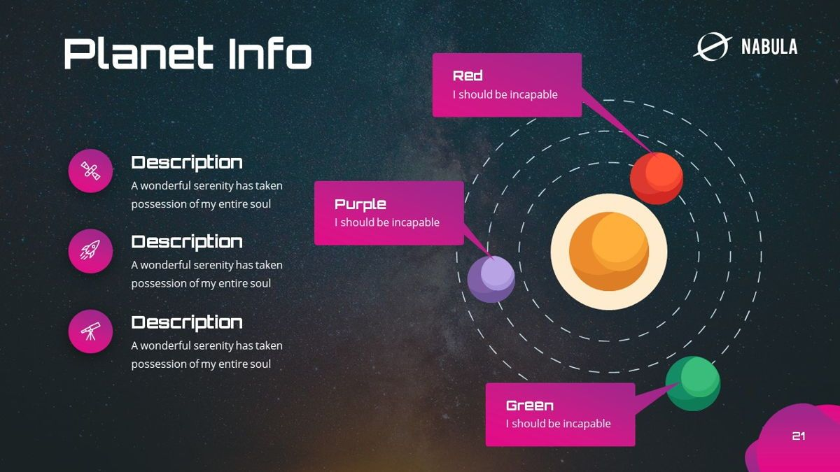 Nabula - Scientific Powerpoint Template, Slide 22, 06438, Data Driven Diagrams and Charts — PoweredTemplate.com