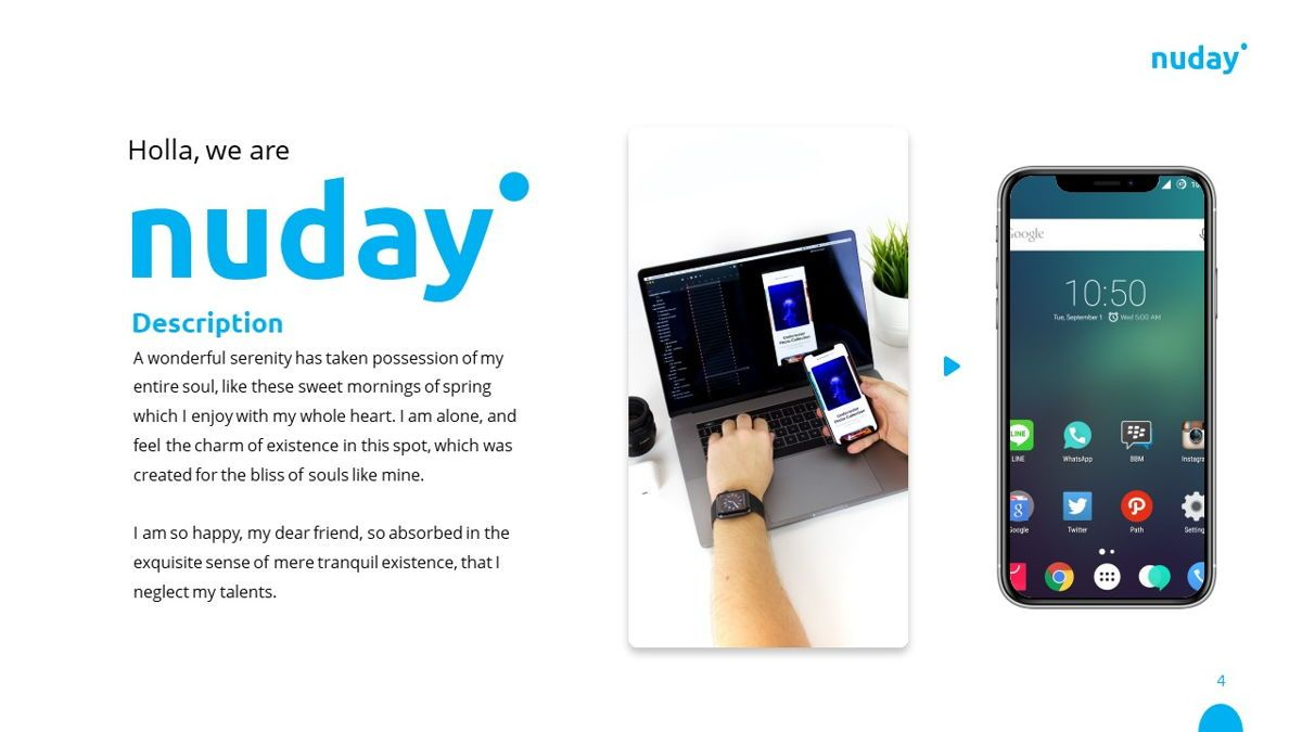 Nuday - Developer Powerpoint Template, Slide 5, 06439, Data Driven Diagrams and Charts — PoweredTemplate.com