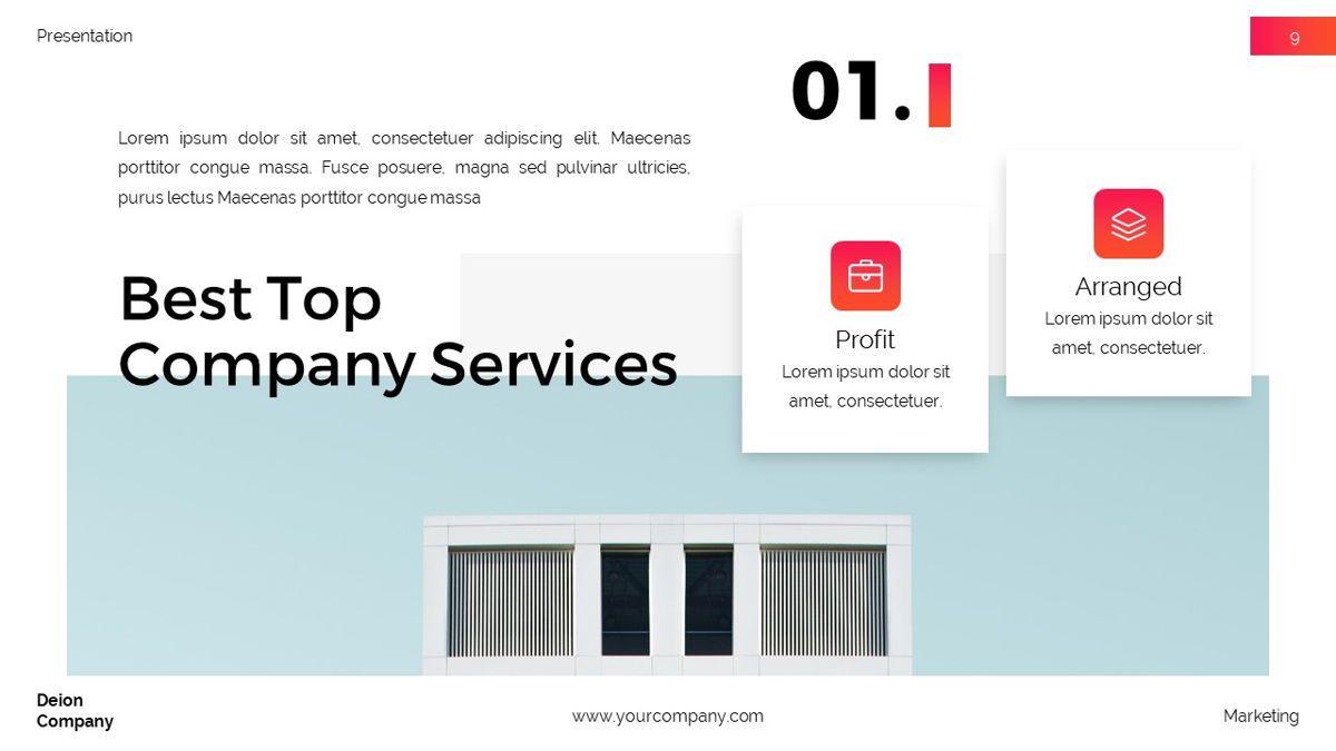 Deion - Simplicity Powerpoint Template, Slide 10, 06440, Business Models — PoweredTemplate.com
