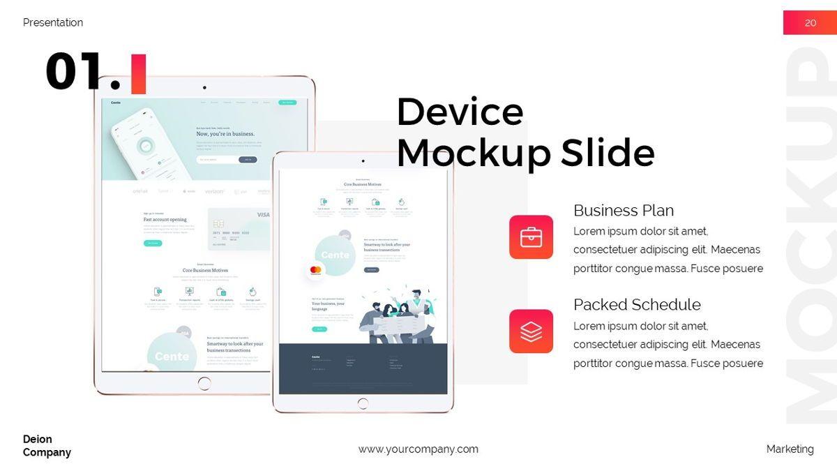 Deion - Simplicity Powerpoint Template, Slide 21, 06440, Business Models — PoweredTemplate.com